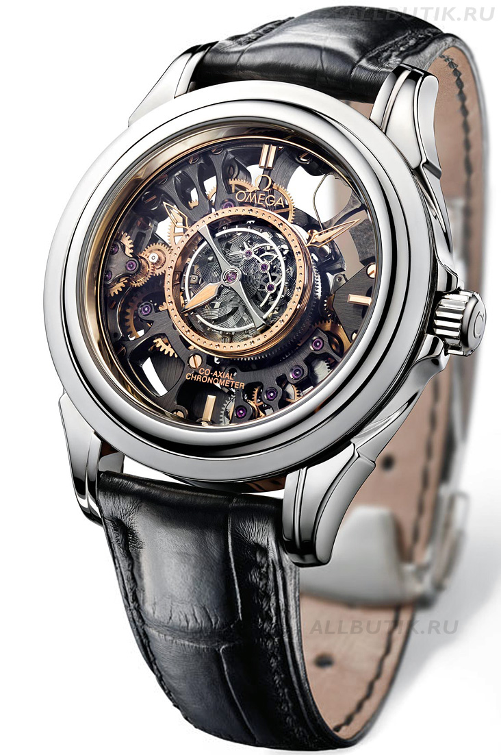 часы Omega Tourbillon Central Co-Axial Platine Squelette