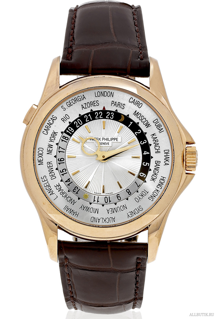 "Pink Gold World-Time Patek Philippe, Geneve, ""World Time"""