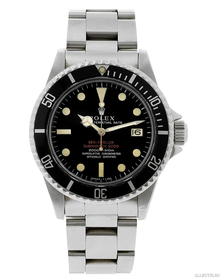 Double-Red Patent Pending Mark I Rolex, Oyster Perpetual Date